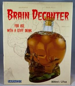 Brain Decanter, Schädelflasche, Totenkopfflasche