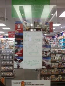 PS4 Vorbestellung geschlossen
