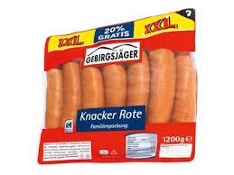 Lidl, rote Knacker, Bockwurst
